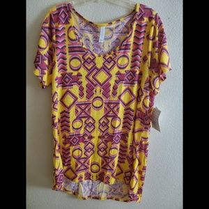LuLaRoe XL Classic T Boho Paisley Shirt Top